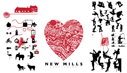 Love New Mills - all filled in, but not quite finished