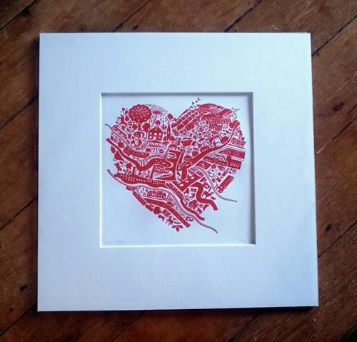 Love New Mills - mounted print
