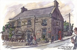 Hare and Hounds - drawing - 1379565_530491350371663_1017719171_n