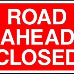 Road works for January through to March