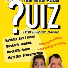 New Mills Pubs Quiz – start Thursday 5 March