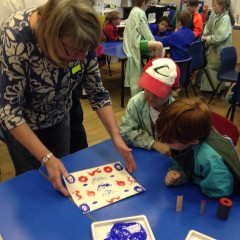 Calico printing for children at New Mills Heritage Centre