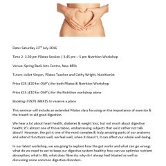 Pilates and Nutrition at Spring Bank Arts – 23 July