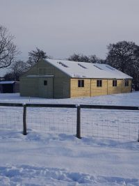 American Barn in the snow