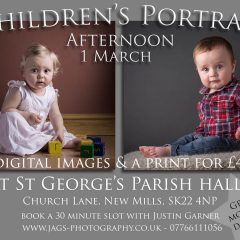 Children's portrait session on 1 March at St George's Parish Hall.