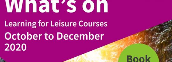 Autumn Term courses on offer at New Mills Adult Community Education