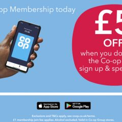 £5 Off Your Shopping with the Co op App